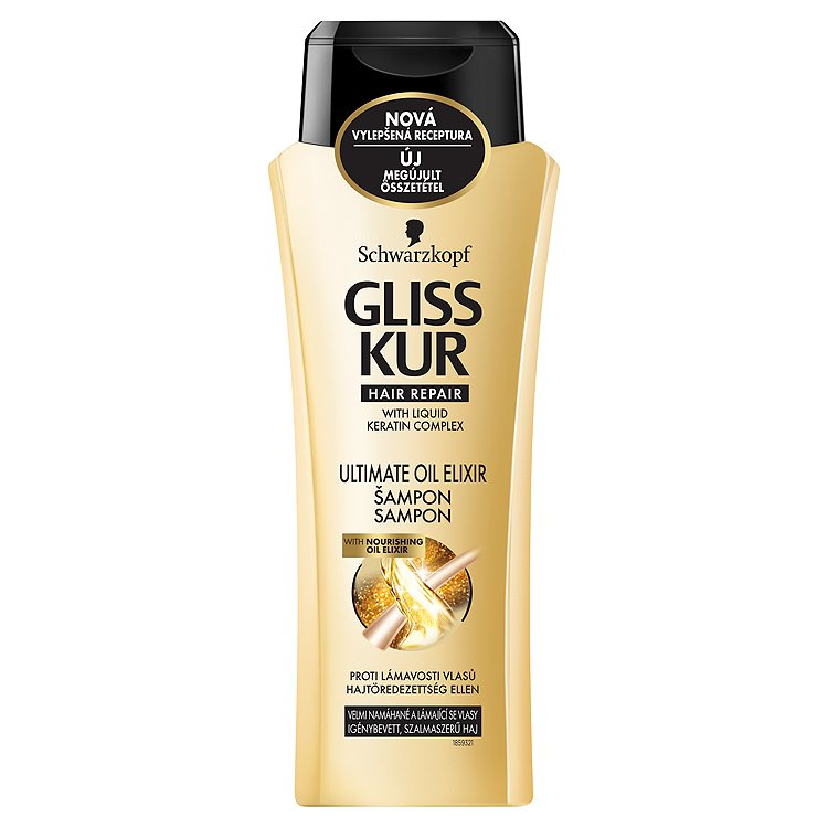 Gliss Kur regenerační šampon Ultimate Oil Elixir 400 ml
