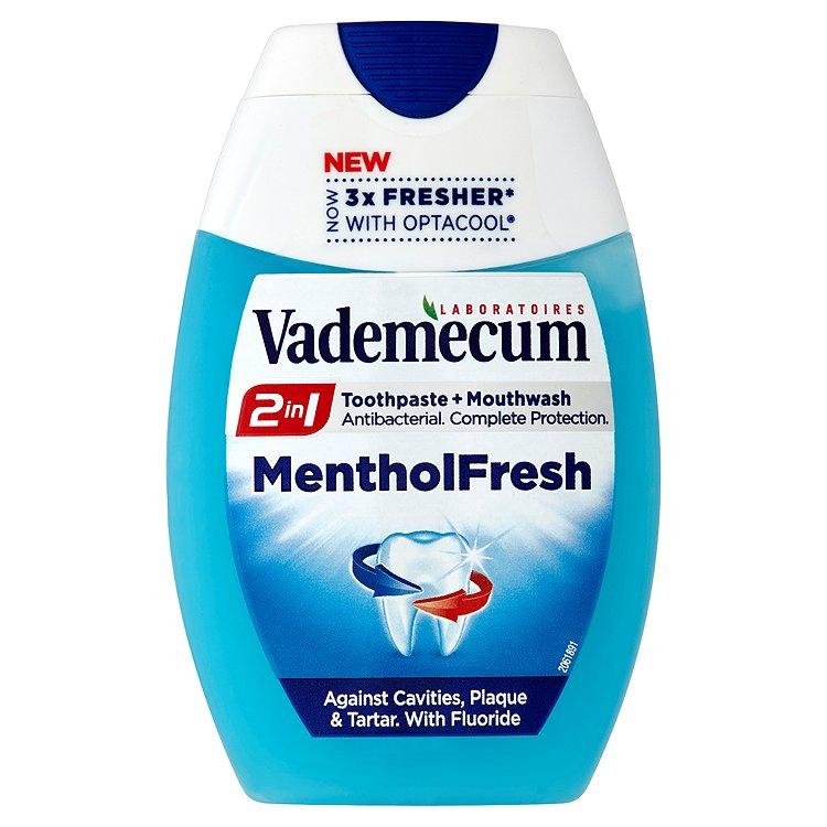 Fotografie Vademecum 2v1 Menthol Fresh Zubní pasta 75 ml