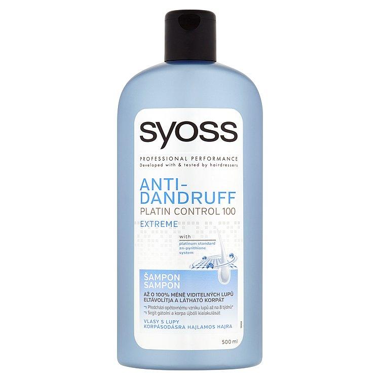 Fotografie Syoss Anti-Dandruff Platinum Control 100 Extreme šampon 500 ml