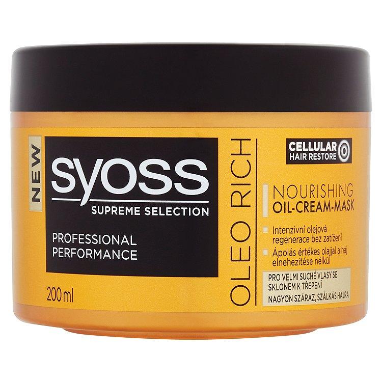 Syoss Supreme Selection Oleo Rich regenerační olejovo-krémová maska pro velmi suché vlasy 200ml