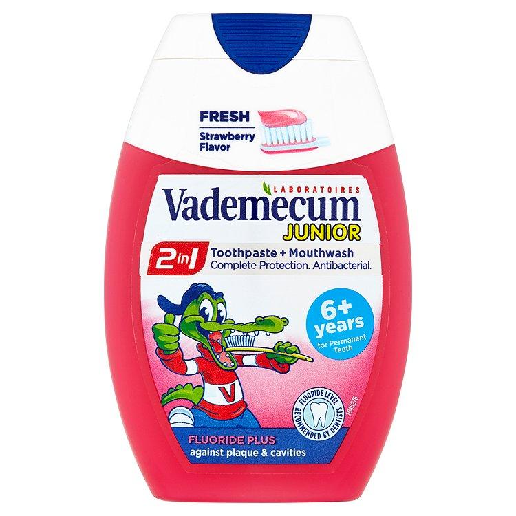 Fotografie Vademecum Junior zubní pasta 2in1 Strawberry 75ml