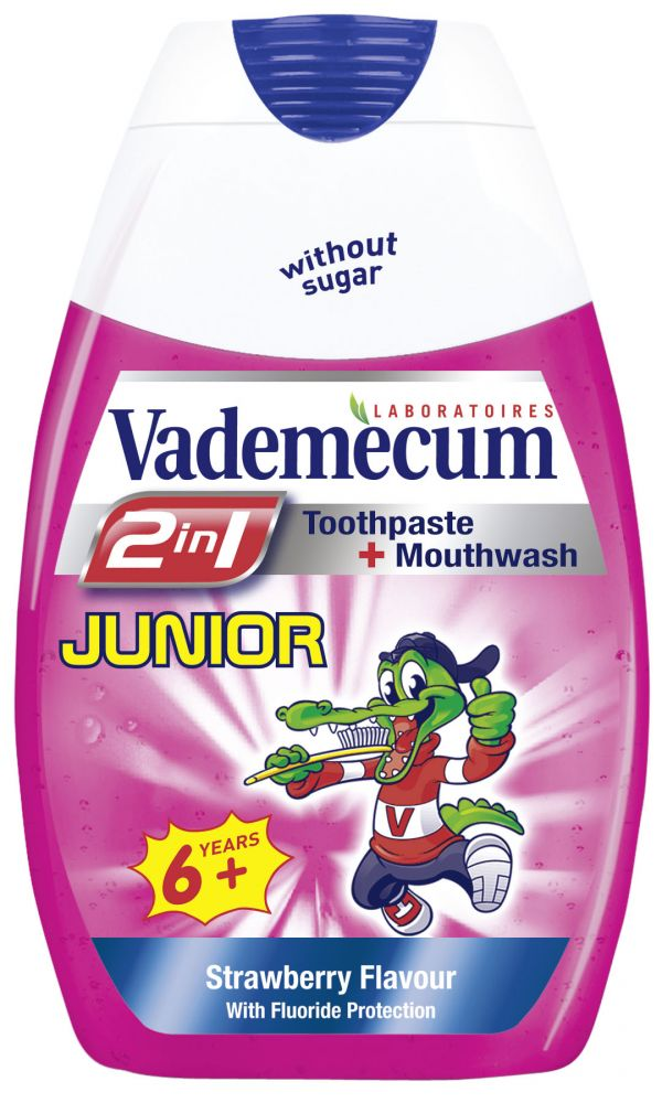Vademecum 2v1 zubní pasta Junior - Jahoda 75 ml