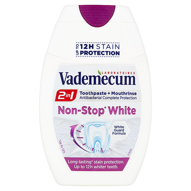 Fotografie Vademecum 2v1 zubní pasta Non-Stop White 75 ml