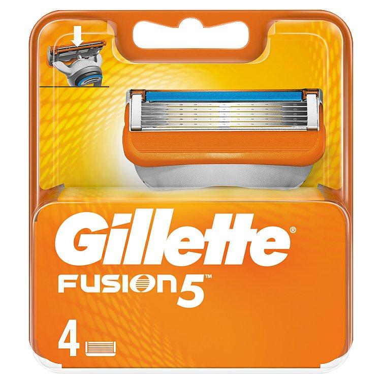 Gillette Fusion Náhradní hlavice do holicího strojku 4 ks