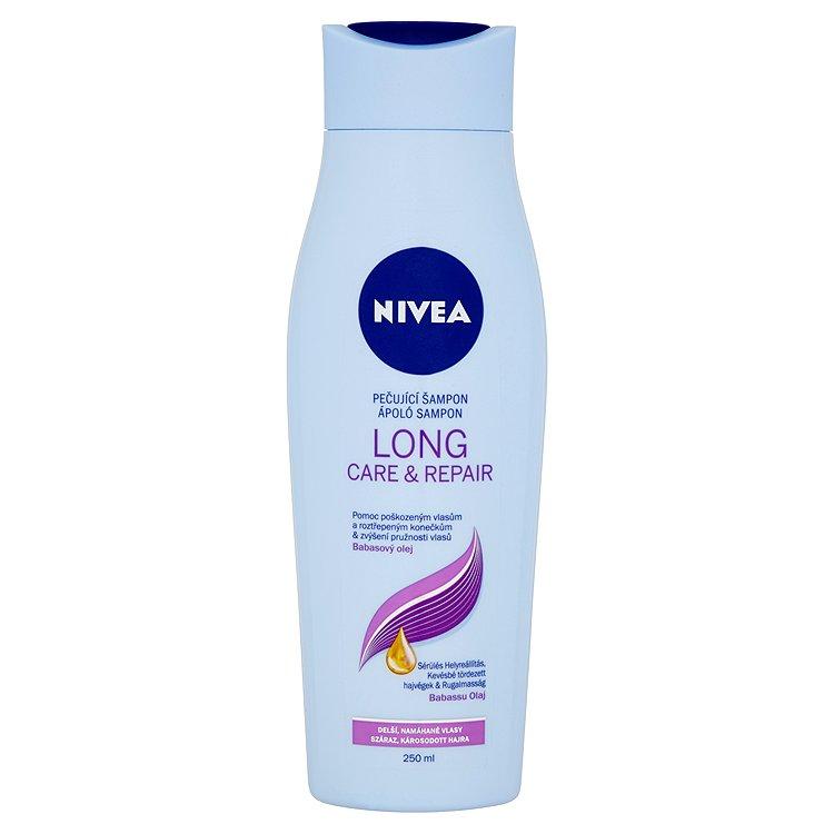 Fotografie Nivea Long Care & Repair pečující šampon 250 ml