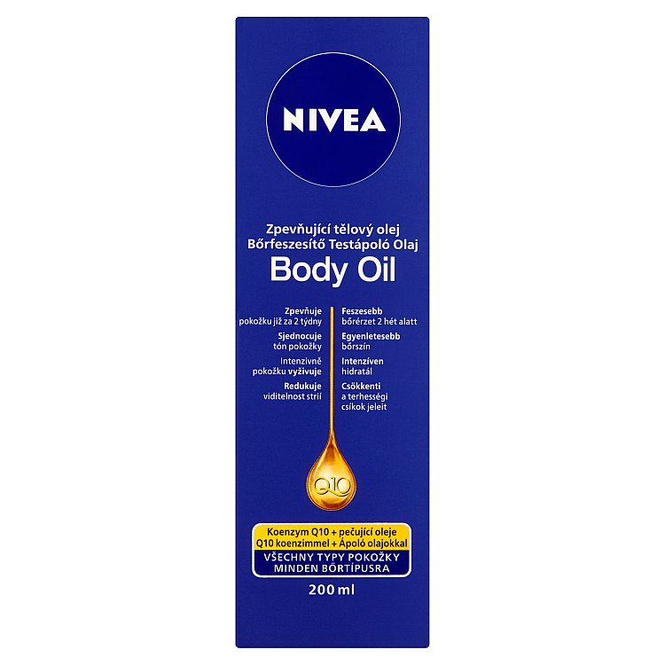 Fotografie Nivea Zpevňující tělový olej Q10 Plus 200 ml