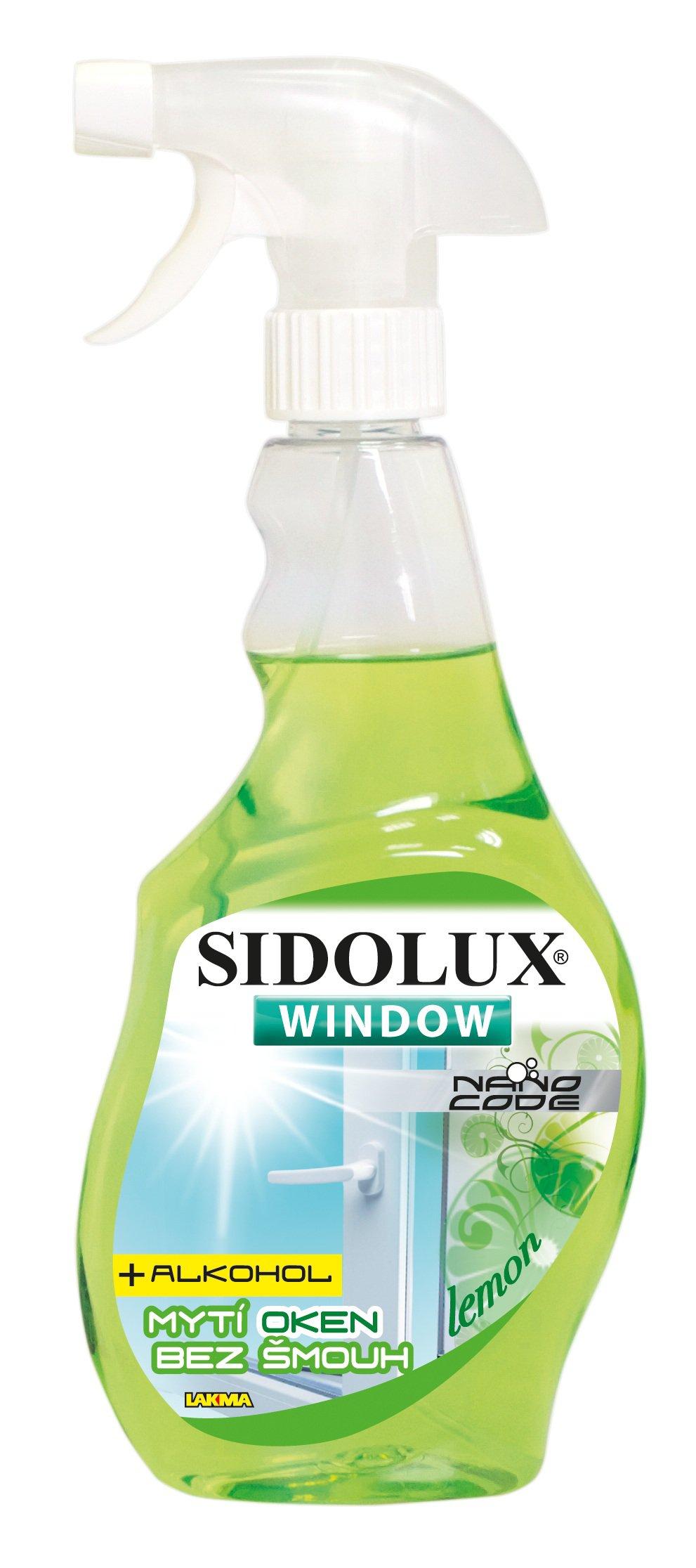 Sidolux Nano code čistič oken Lemon 500 ml