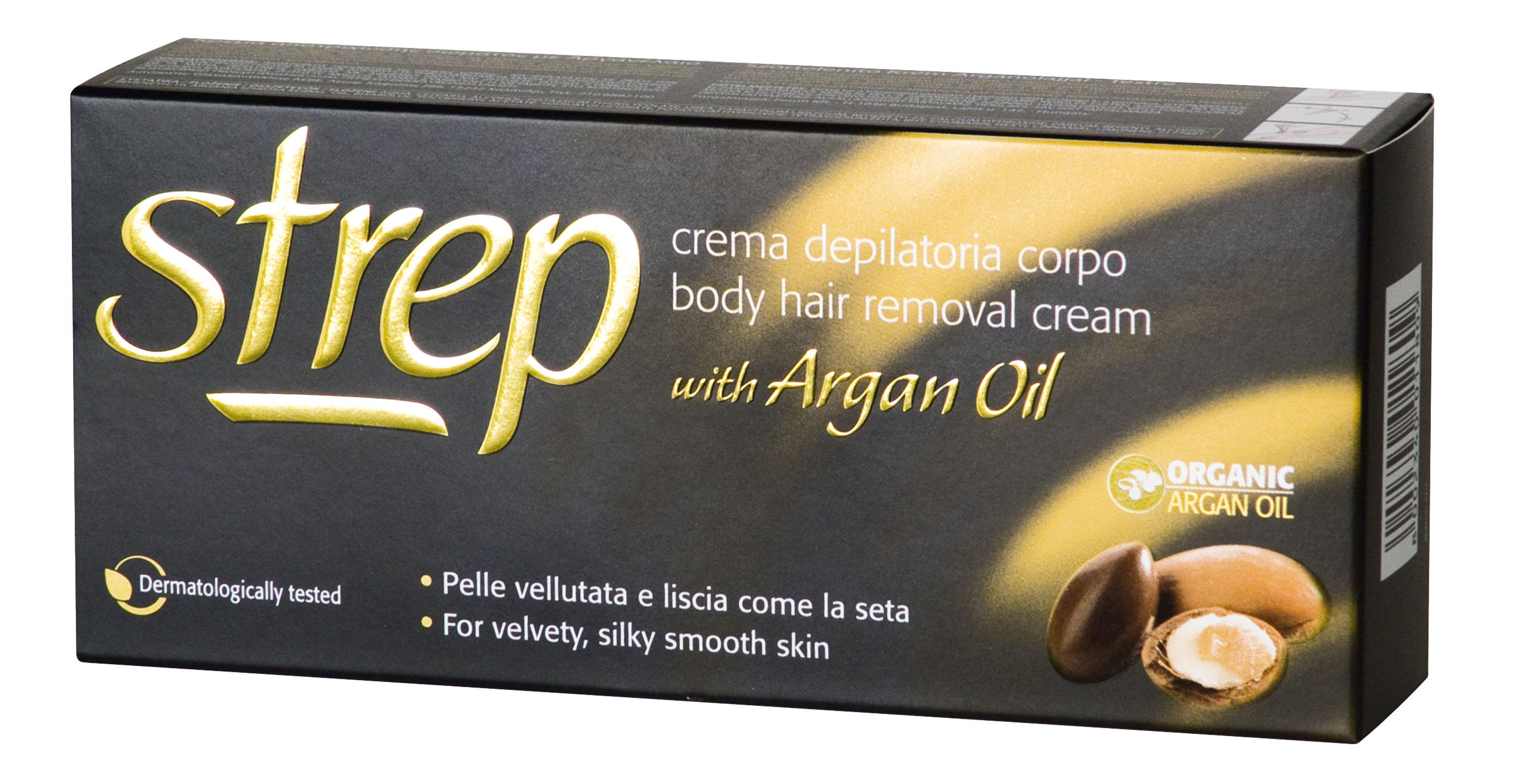 Fotografie Strep depilační krém pro tělo s arganovým olejem 100 ml