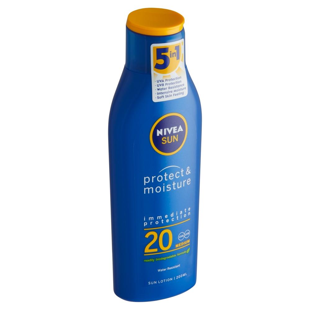 Nivea Sun Protect & Moisture Hydratační mléko na opalování OF 20 200 ml