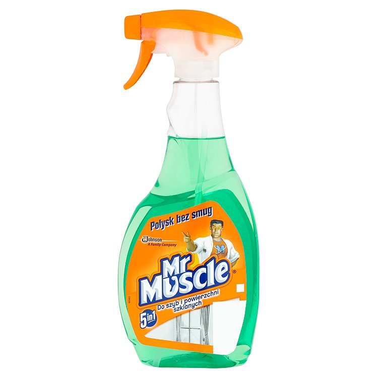Fotografie Mr. Muscle čistič oken, zelený 500 ml