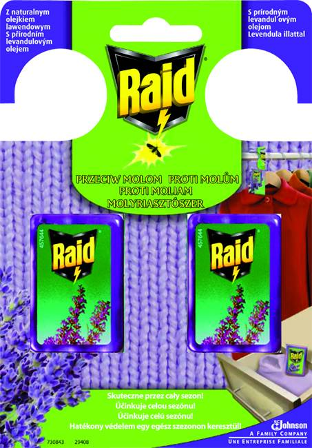 Raid proti molům s vůní levandule 2 ks/blistr