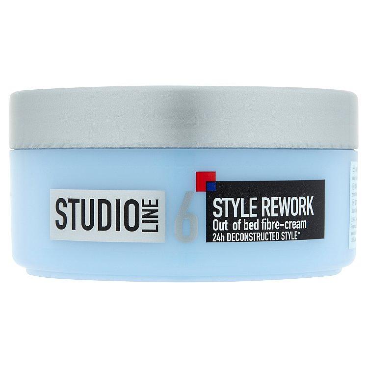 Fotografie L´Oréal Paris - Studio Line Style Rework Out Of Bed Fibre Cream 150ml Gel na vlasy W Vláknitý mode