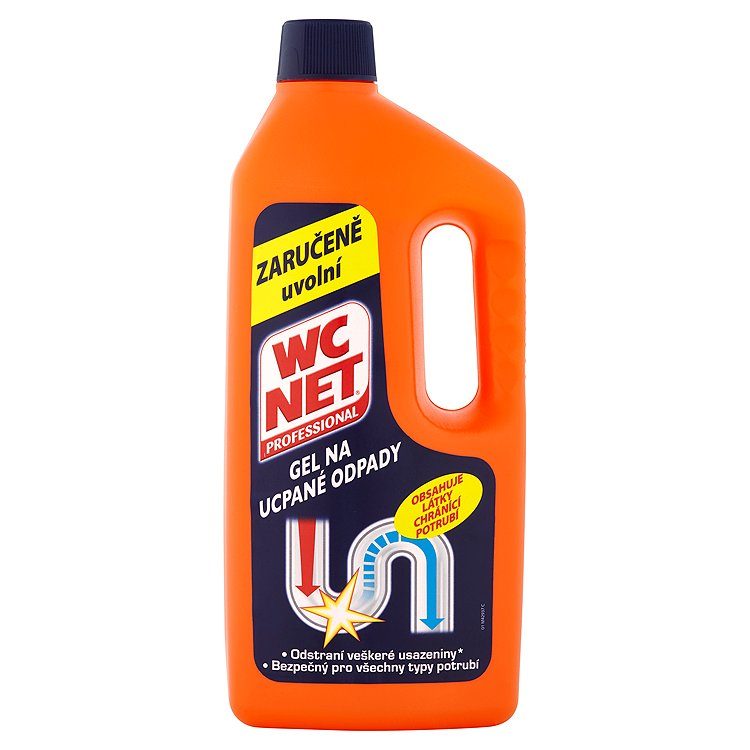 WC Net Professional Gel na ucpané odpady 1000 ml