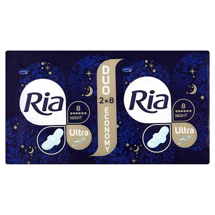 Fotografie Ria Ultra Night ultratenké dámské vložky 16 ks/bal.