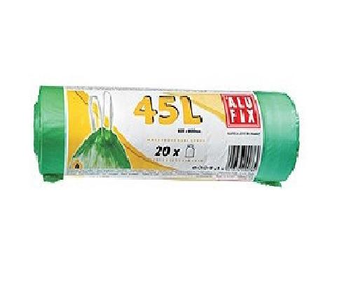 Alufix zatahovací odpadkové pytle zelené, 45 l 20 ks