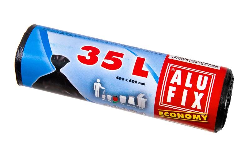 Fotografie Alufix Economy odpadkové pytle černé, 35 l 30 ks