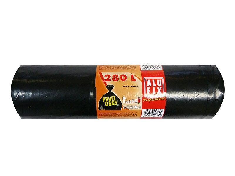 Alufix úklidové pytle černé silné, 280 l 5 ks