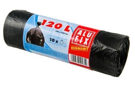 Alufix odpadkové pytle černé, 120 l 10 ks