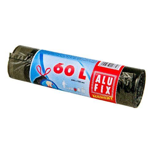 Alufix Economy odpadkové pytle zatahovací černé, 60 l 10 ks