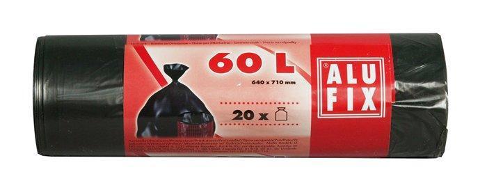 Alufix odpadkové pytle černé, 60 l 20 ks