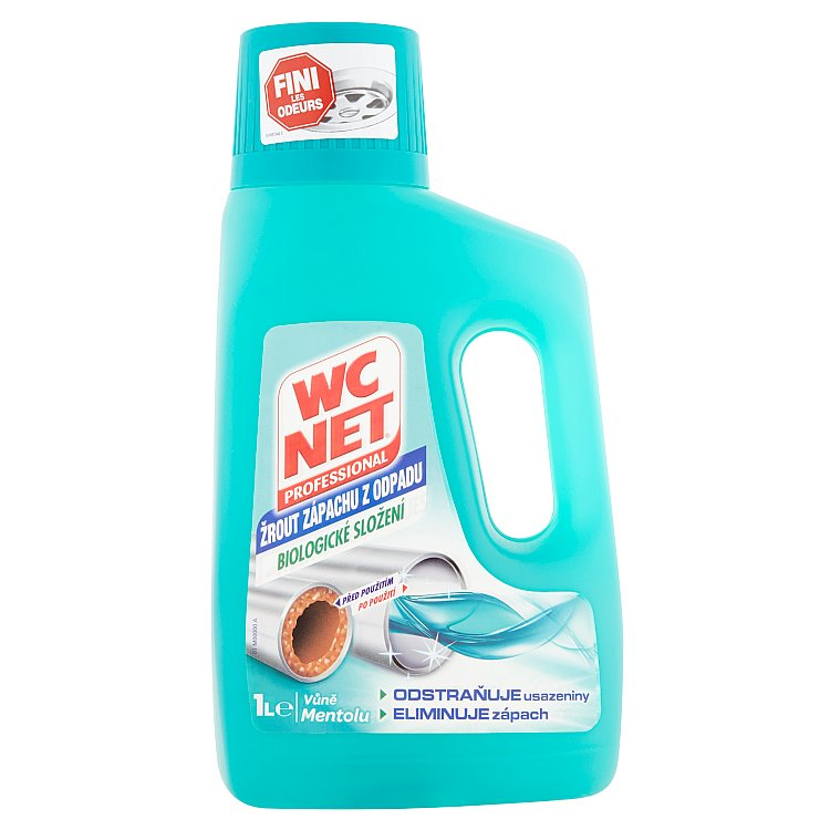 WC Net Professional žrout zápachu z odpadu, vůně mentolu 1000 ml