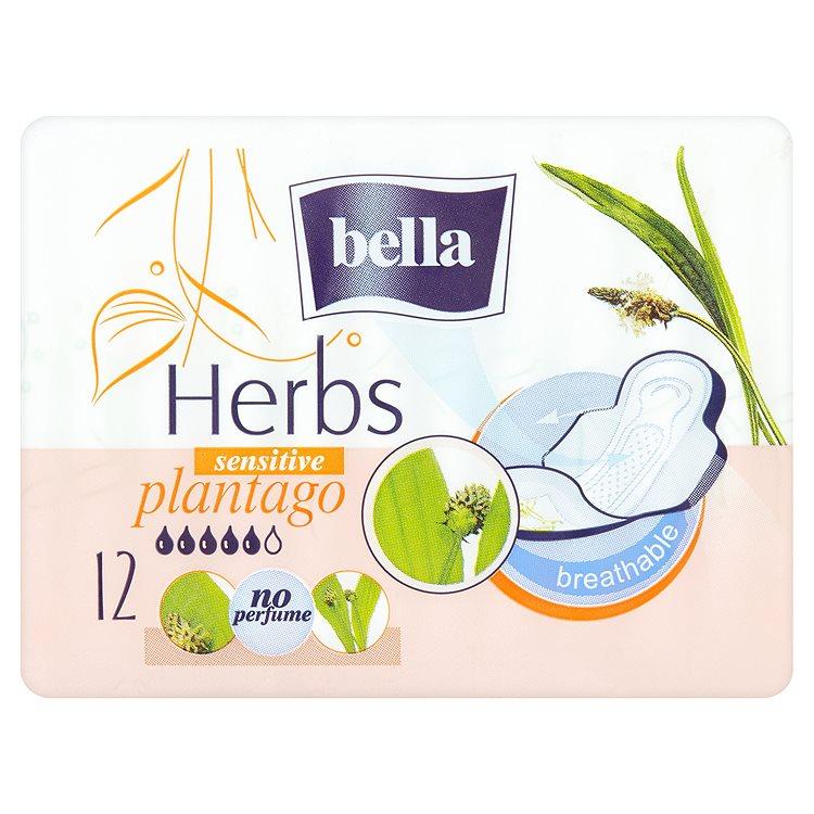 Fotografie Bella Herbs Plantago prodyšné hygienické vložky 12 ks