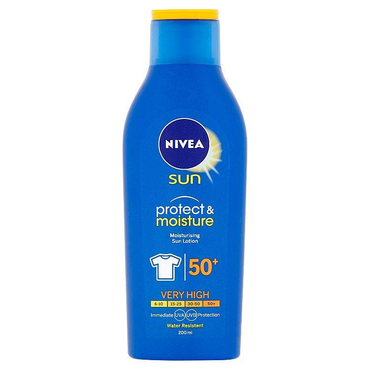 Nivea Sun Protect & Moisture Hydratační mléko na opalování OF 50+ 200 ml