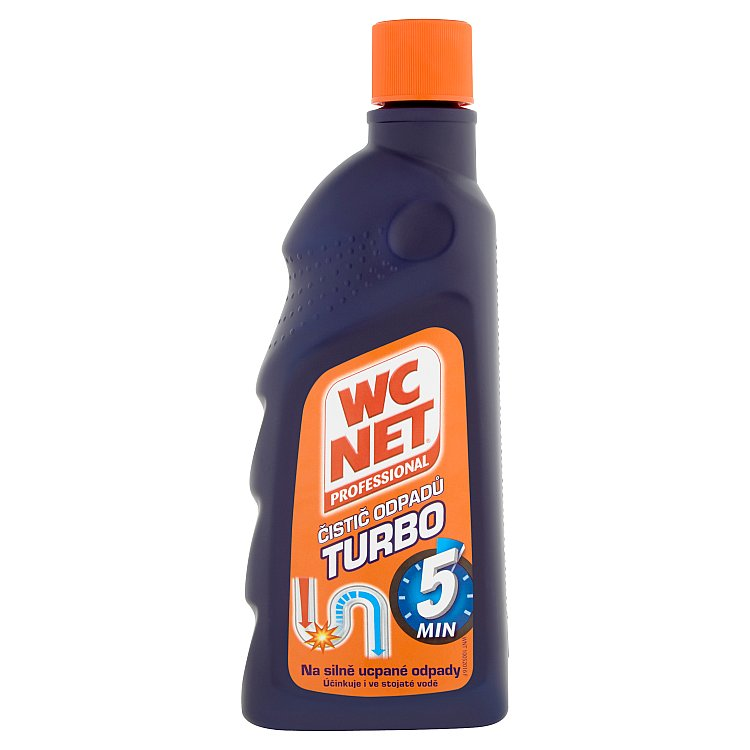 WC Net Professional Turbo gelový čistič odpadů 500 ml