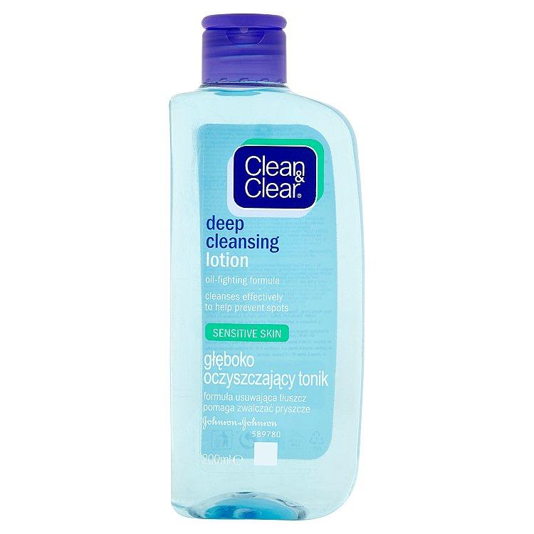 Clean & Clear hloubkově čistící pleťová voda pro citlivou pleť 200 ml