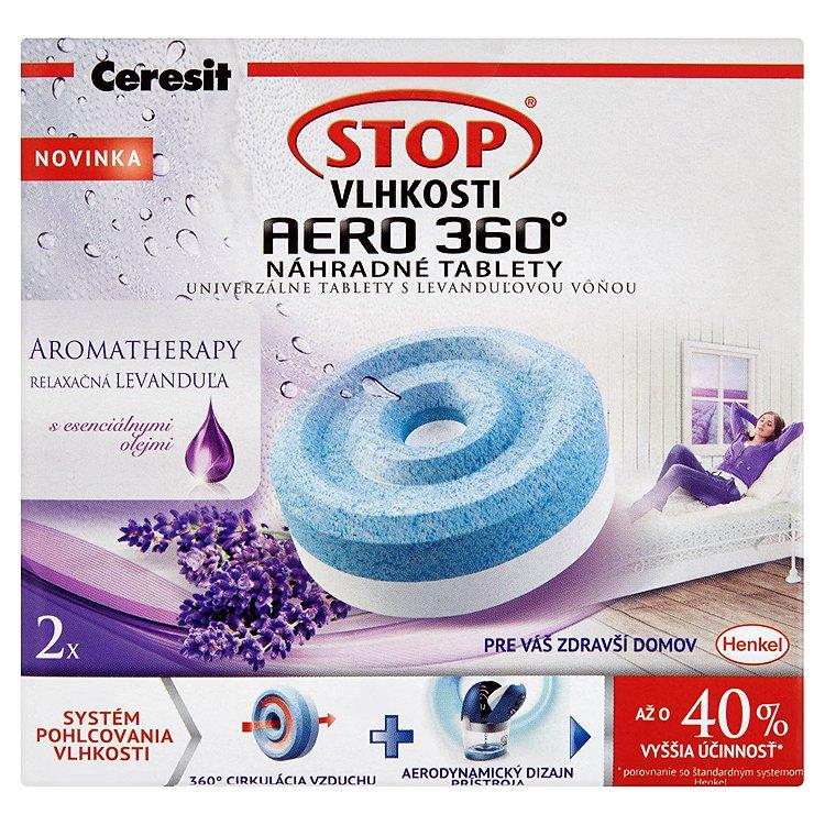 Ceresit STOP VLHKOSTI AERO 360° náhradní tablety 3v1 relaxační levandule 2 x 450 g