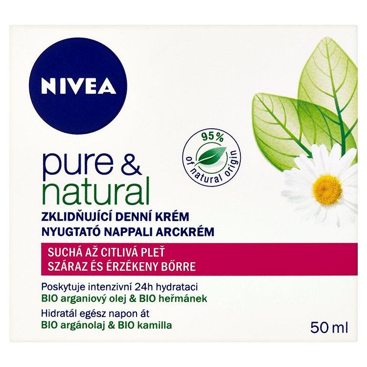 Nivea Pure & Natural zklidňující denní krém 50 ml