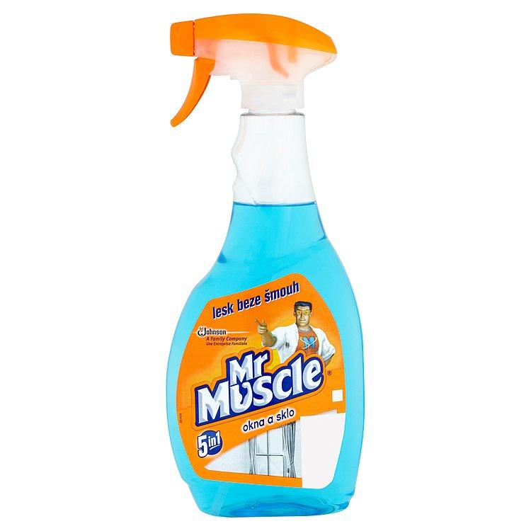 Fotografie Mr. Muscle čistič oken, modrý 500 ml