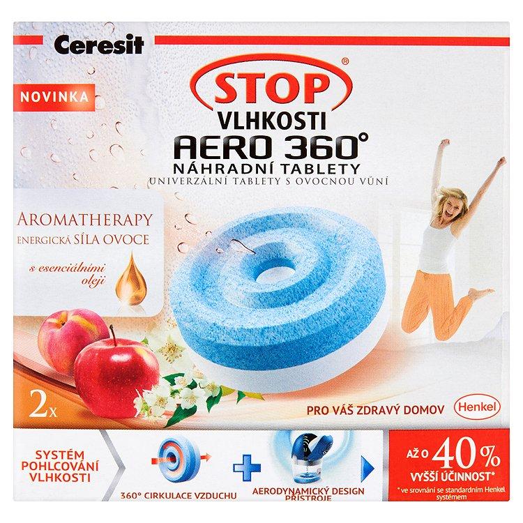 Fotografie Ceresit Stop vlhkosti Aero 360 Energická síla ovoce náhradní tablety 2 x 450 g