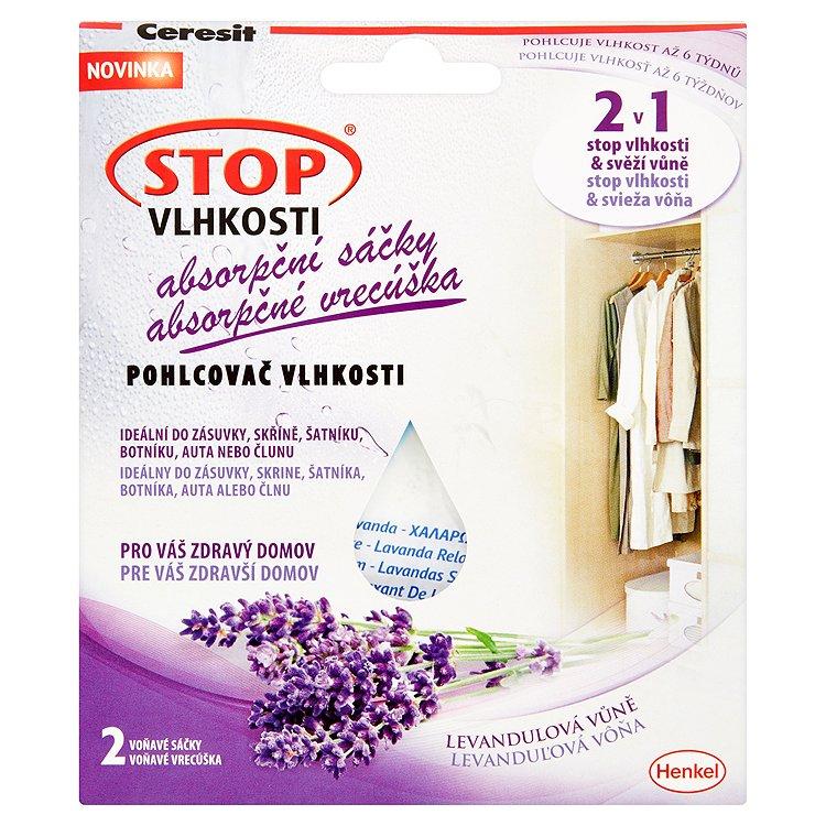 Ceresit STOP VLHKOSTI absorpční sáčky relaxační levandule 2 x 50 g