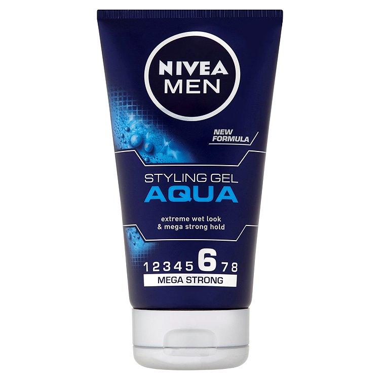 Fotografie Nivea Men Aqua gel na vlasy s mokrým efektem 150 ml