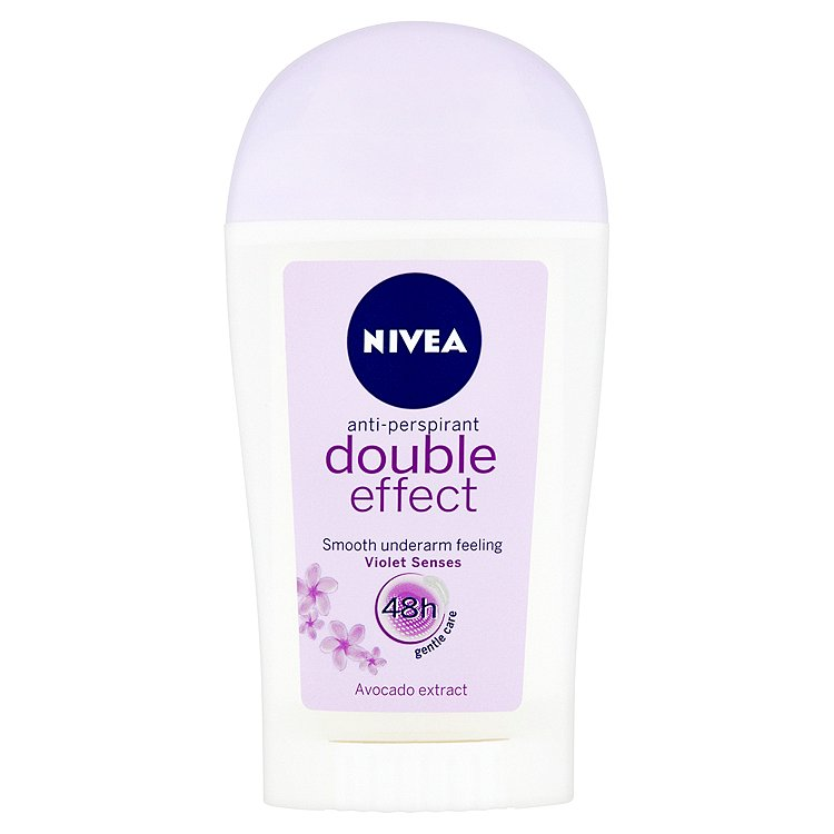 Fotografie Nivea Double Effect Violet Senses tuhý antiperspirant 40 ml