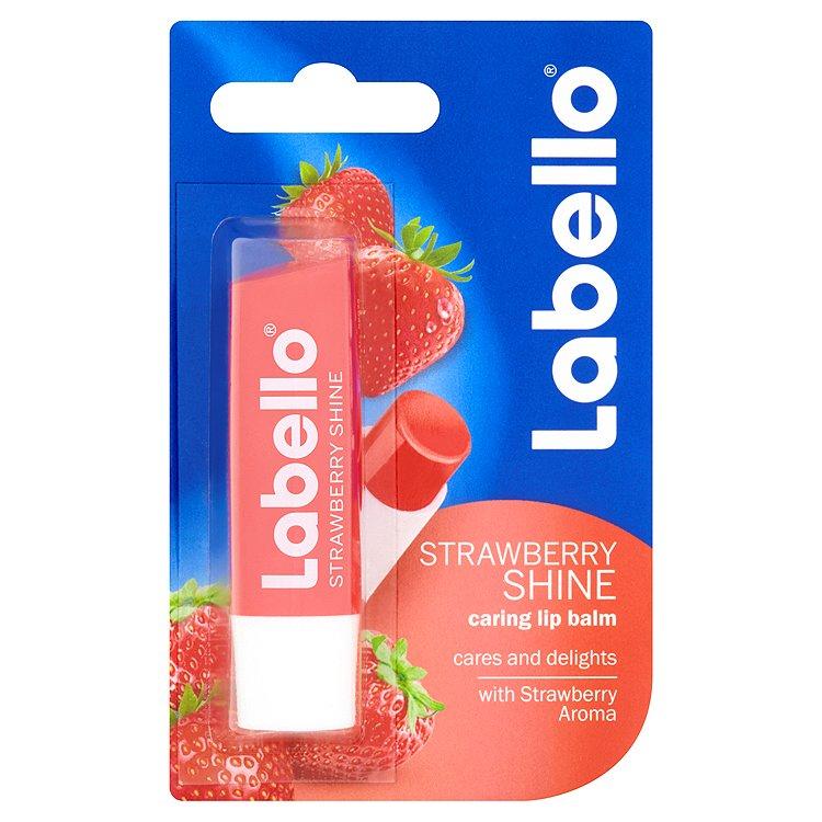 Fotografie Labello Strawberry shine, tónovací balzám na rty Strawberry shine