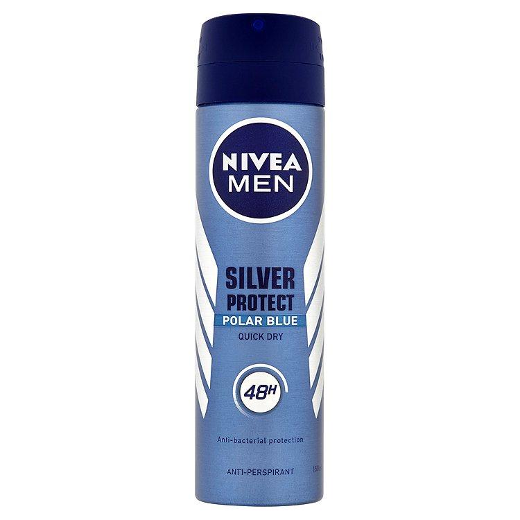 Fotografie Nivea Men Antiperspirant Silver Protect Polar Blue 150 ml