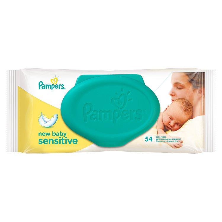 Fotografie Pampers New Baby Sensitive ubrousky 54 ks