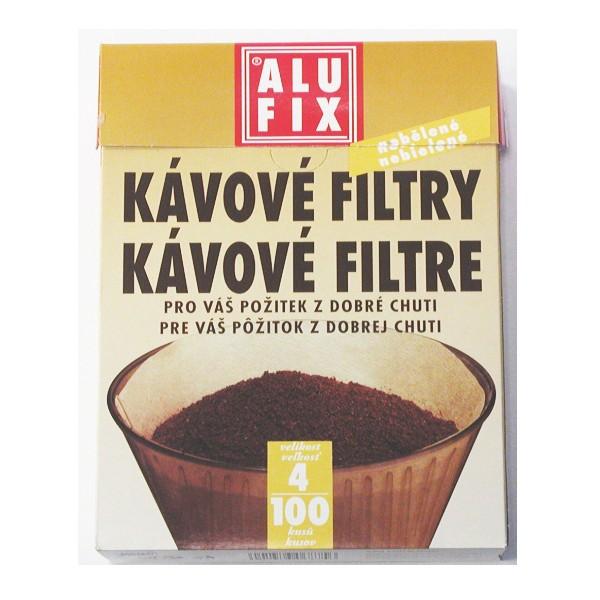 ALUFIX filtry na kávu vel. 4 100 ks