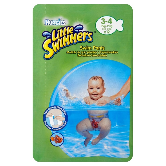 Huggies Little Swimmers natahovací plenky na plavání vel. 3-4, 7-15 kg 12 ks