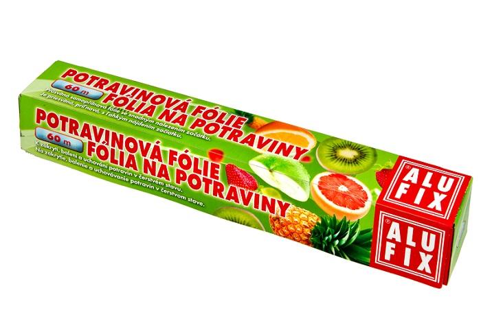 Fotografie Alufix potravinová fólie v krabičce s pilkou 60 m