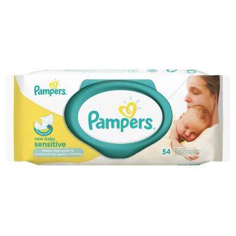 Fotografie Pampers New Baby Sensitive vlhčené ubrousky 54 kusů