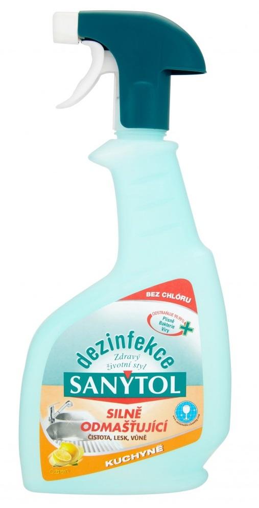 Fotografie Sanytol dezinfekce kuchyně ve spreji 500 ml, s vůní citrónu