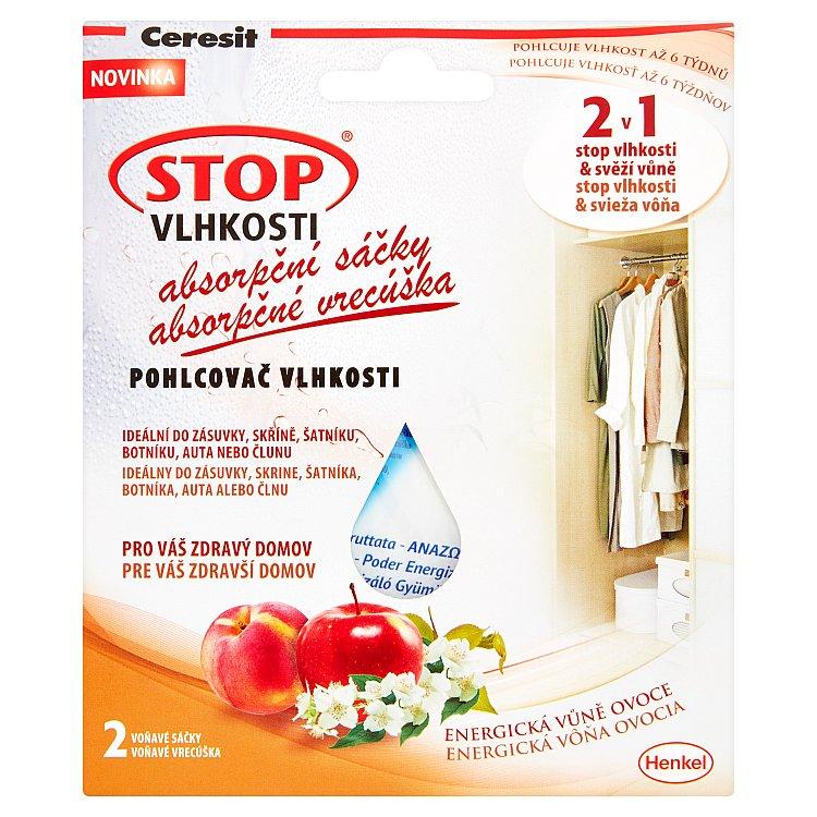 Ceresit STOP VLHKOSTI absorpční sáčky energické ovoce 2 x 50 g