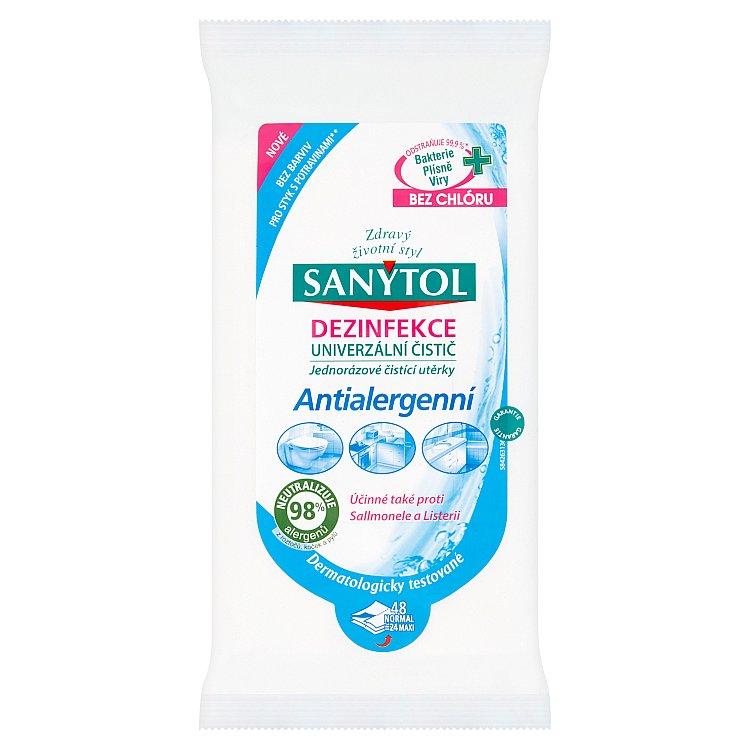 Sanytol antialergenní dezinfekční ubrousky 48 ks