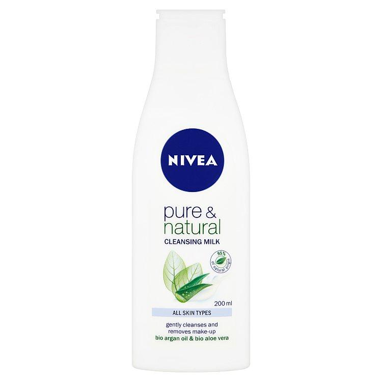 Fotografie Nivea Pure & Natural čisticí pleťové mléko 200 ml