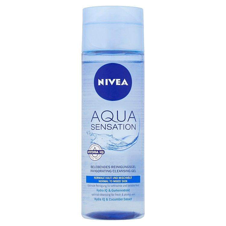 Fotografie Nivea Aqua Sensation oživující čistící pleťový gel 200 ml