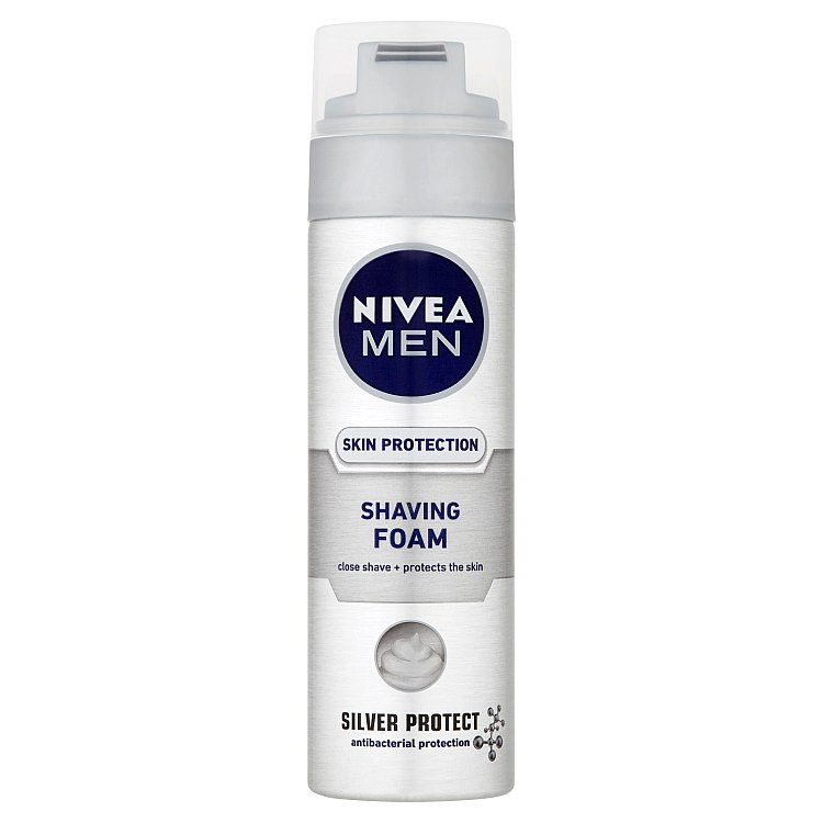 Nivea Men Silver Protect pěna na holení 200 ml