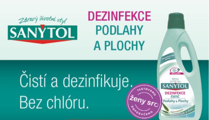 Sanytol dezinfekce na podlahy a plochy s vůní eukalyptu 1 l